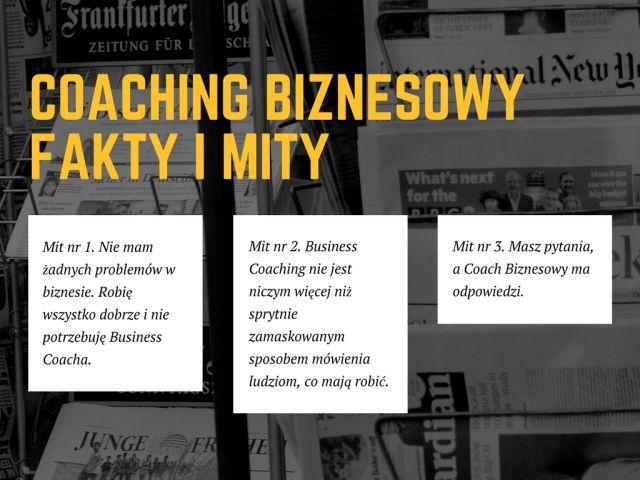 Coaching Biznesowy – fakty i mity