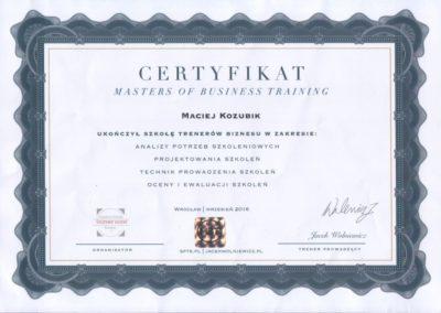 certyfikat-masters-of-business-training-Maciej-Kozubik_coach_trener-biznesu_trener-sprzedaży-1024x724