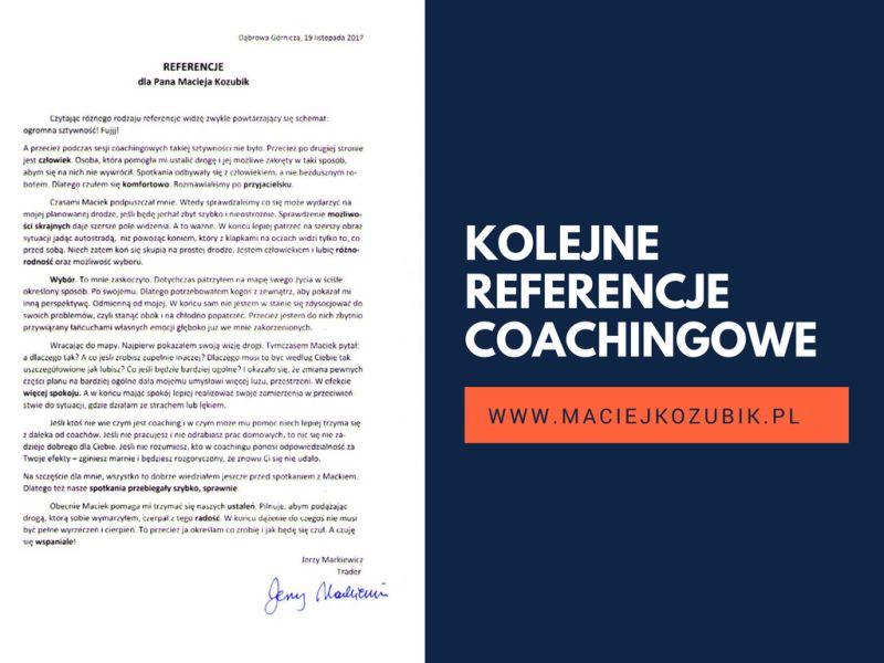 Kolejne referencje coachingowe