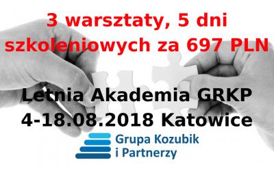 3 szkolenia, 5 dni warsztatowych, tylko za 697 PLN (tylko do 31-07-2018)