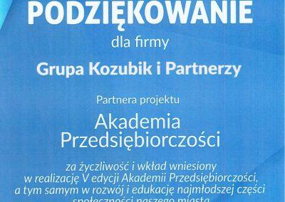 Akademia Przedsiębiorczości 5 edycja Grupa Kozubik i Partnerzy